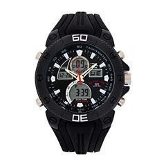 U.S. Polo Assn. Mens Black Strap Watch-Us9665jc