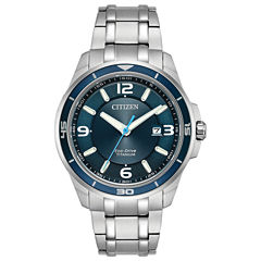 Citizen Mens Silver Tone Bracelet Watch-Bm6929-56l