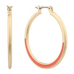 Gloria Vanderbilt Orange Hoop Earrings