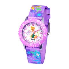 Disney Tinker Bell Girls Purple Strap Watch-W000277