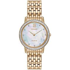 Citizen Womens Rose Goldtone Bracelet Watch-Ex1483-50d
