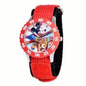 Disney Mickey Mouse Boys Red Strap Watch-W001570