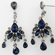 Vieste Rosa Blue Brass Chandelier Earrings