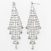 Vieste Rosa White Brass Chandelier Earrings