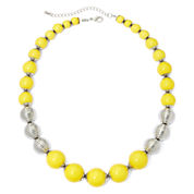 Mixit™ Yellow Bead Silver-Tone Necklace