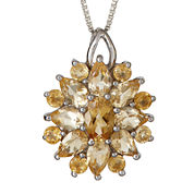 LIMITED QUANTITIES  Genuine Citrine Starburst Pendant Necklace