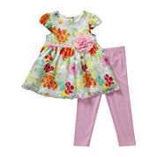 Youngland® Dress and Leggings Set - Preschool Girls 4-6x