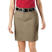 Dickies© Straight-Fit Stretch Twill Skirt