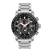 Citizen® Eco-Drive World Time A-T Mens Stainless Steel Watch AT9071-58E