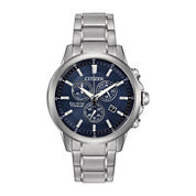 Citizen® Eco-Drive TI + IP Mens Super Titanium Chronograph Watch AT2340-56L