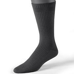 Dr. Scholl's® 2-pk. Non-Binding Dress Rib Socks