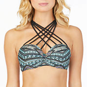 Ambrielle Pattern Bandeau Swimsuit Top