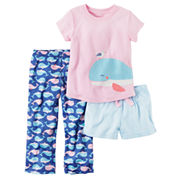Carter's 3-pc. Short Sleeve Pajama set-Toddler Girls