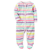 Carter's Girl Multi Stripe Footed Sleep-N-Play