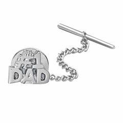 no.1 Dad Rhodium-Plated Tie Tack