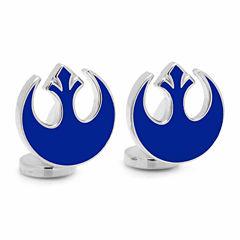 Star Wars™ Blue Rebel Symbol Cuff Links