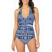 Ambrielle Halter Tankini or Macrame Side Hipster