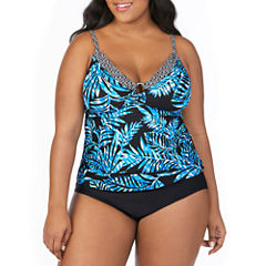 St.John's Bay ® Picasso Plam Ring Front Tankini or Basic Pant - Plus