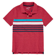 Arizona Short Sleeve Solid Pique Polo Shirt - Toddler Boys