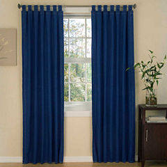 Karin Maki American Denim Tab Top Lined Curtains W/Tiebacks