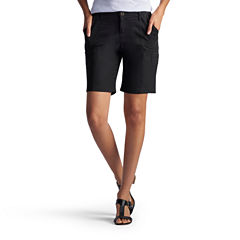 Lee Relaxed Fit Twill Bermuda Shorts-Petites
