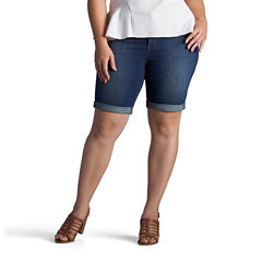 Lee Modern Fit Denim Bermuda Shorts-Plus