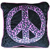 Seventeen® Natalie Peace Sign Square Decorative Pillow