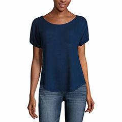 a.n.a Short Sleeve Crew Neck T-Shirt-Womens Talls