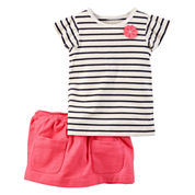 Carter's Girls 2-pc. Short Sleeve Skirt Set