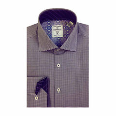 Society Of Threads Slim Fit Long Sleeve Dress Shirt