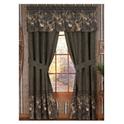 Browning Whitetails Rod Pocket Lined Curtains W/Tiebacks