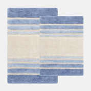 Chesapeake Merchandising Tuxedo Stripe 2-pc. Bath Rug Set