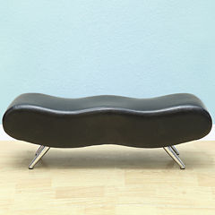 Stealth II Faux Leather Bench