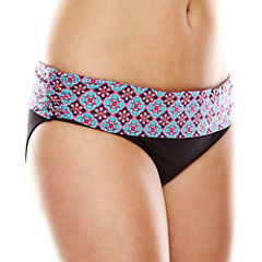 Liz Claiborne® Road To Ibiza Sash Hipster Swim Bottom