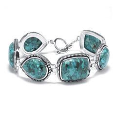 Enhanced Turquoise Sterling Silver Bracelet