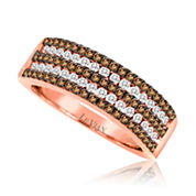 LIMITED QUANTITIES Le Vian Grand Sample Sale 3/4 CT. T.W. White and Chocolate Diamond Band