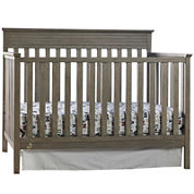 Fisher-Price Newbury Convertible Crib - Antique Gray - Free Mattress with Purchase, See Product Page for Details