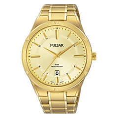 Pulsar Mens Gold Tone Bracelet Watch-Ps9524