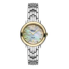 Seiko Tressia Womens Silver Tone Bracelet Watch-Sup354