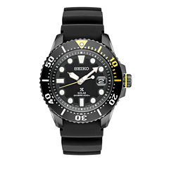 Seiko Prospex Mens Gray Strap Watch-Sne441