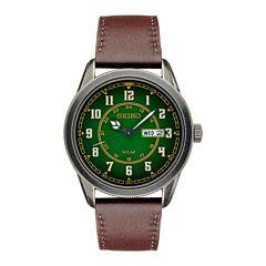 Seiko Recraft Mens Brown Strap Watch-Sne448