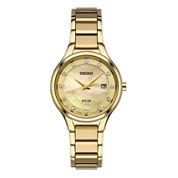 Seiko Womens Gold Tone Bracelet Watch-Sut320