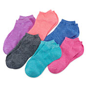 Xersion Girls 6 Pair No Show Socks-Big Kid