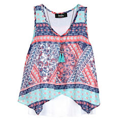 by&by girl Short Sleeve Flutter Sleeve Blouse - Big Kid Girls