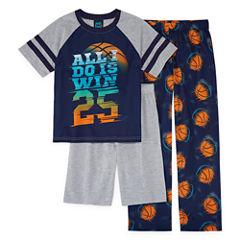 Jelli Fish Kids Boys 3-pc.Short Sleeve Kids Pajama Set-Big Kid