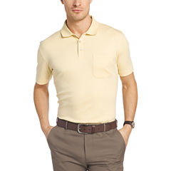 Van Heusen Short Sleeve Solid Interlock Polo Shirt
