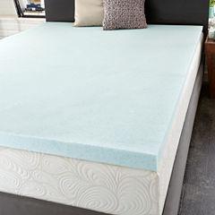 PuraSleep OptiPlush Cool Comfort Memory Foam Mattress Topper - 2In