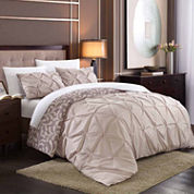 KING TALIA 7pc. BIB DUVET SET