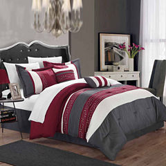 Chic Home Carlton 10-pc. Complete Bedding Set With Sheets