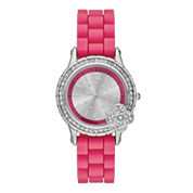 Womens Glitz Bow Silicone Strap Watch